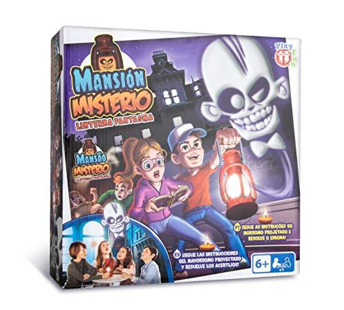 PLAY FUN BY IMC TOYS Mansión Miserio - Juego Escape Room con libro mágico y linterna; para Niños mayores de 6 años