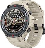 Amazfit T-Rex Smartwatch Orologio Intelligente AMOLED da 1,3', 14 Modalità di Allenamento con GPS, 5 ATM Impermeabile, Durata della Batteria di 20 giorni, Sportivo Sonno Monitor Notifica (Khaki)