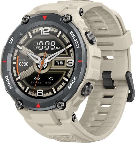 Amazfit T-Rex Smartwatch Orologio Intelligente AMOLED da 1,3 , 14 Modalità di Allenamento con GPS, 5 ATM Impermeabile, Durata della Batteria di 20 giorni, Sportivo Sonno Monitor Notifica (Khaki)