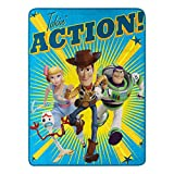 Toy Story Takin Action Micro Raschel Throw Blanket, 46' x 60'