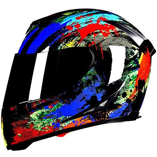 Casco De Bicicleta Eléctrica para Motocicleta Al Aire Libre Todo Terreno, Deportes De Equitación, Capucha Protectora De Ciclismo De Cuatro Estaciones L