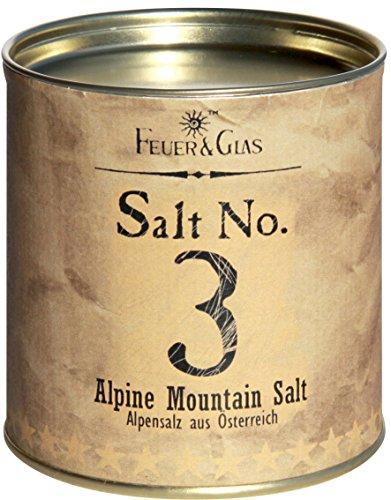 Alpensalz aus Österreich - Alpine Mountain Salt No. 3 - Gourmet Salz aus den Alpen – Ideal als Salz-Geschenk - Kostbare Österreicher Salzflocken – Eine Österreichische Delikatesse – von Feuer & Glas