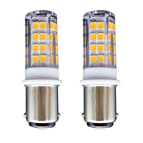 B15 Ampoule LED/[Lot de 2] SFTlite Ba15d LED 4W 51 LEDs-400 lumens Blanc chaud 3000K-35W Lampe Halogène équivalent-Double Connect Baïonnette B15 LED