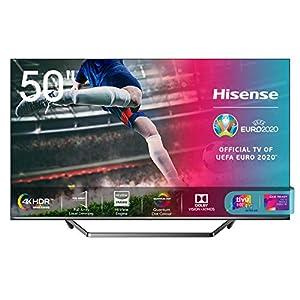 "immagine di Hisense 50U71QF Smart TV ULED Ultra HD 4K 50"", Quantum Dot, Dolby Vision HDR, HDR10+, Dolby Atmos, Full Array Local Dimming, Alexa integrata, Tuner DVB-T2/S2 HEVC Main10 [Esclusiva Amazon - 2020]"