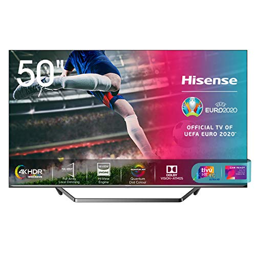 Hisense 50U71QF Smart TV ULED Ultra HD 4K 50', Quantum Dot, Dolby Vision HDR, HDR10+, Dolby Atmos, Full Array Local Dimming, Alexa integrata, Tuner DVB-T2/S2 HEVC Main10 [Esclusiva Amazon - 2020]