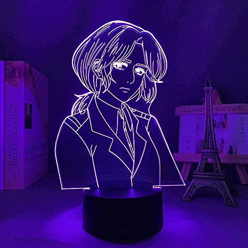 BGHDIDDDDD Lámpara Luz de Noche Pequeña Lámpara de Ilusión de Anime 3D Luz de Noche Decoración de Dormitorio Luz Manga Regalo Luz Nocturna