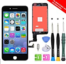 Premium Screen Replacement Compatible with iPhone 8 4.7 inch Full Assembly -LCD Touch Digitizer Display Glass Assembly with Tools, Fit Compatible with iPhone 8 (Black)