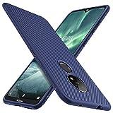 iBetter für Nokia 7.2 Hülle, für Nokia 6.2 Hülle, Ultra Thin Tasche Cover Silikon Handyhülle Stoßfest Hülle Schutzhülle Shock Absorption Backcover Hüllen passt für Nokia 7.2 Smartphone (Blau)