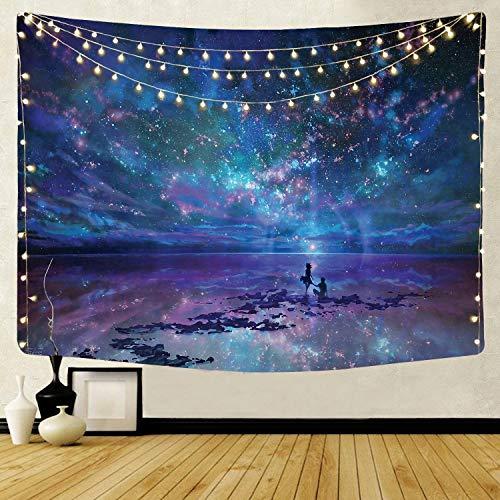 KHKJ Tapices de Pared Tarot Sol Libélula Universo Brujería Tapiz Manta de Pared Decoración del hogar Fondo de Ventana Boho Decorativo A12 150x130cm
