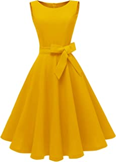 Dressever Women's 50s 60s Vintage Sleeveless Cocktail Party Dress