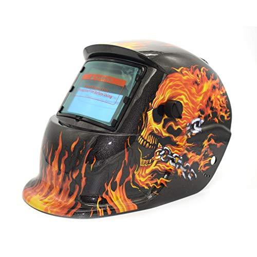 Energía solar auto oscurecimiento Tig Mig Mma Soldadura eléctrica máscara soldador Cap gris oscuro y rojo