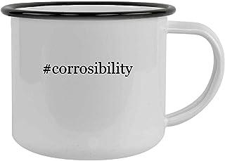 #corrosibility - 12oz Hashtag Camping Mug Stainless Steel, Black