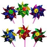 WINOMO 50pcs migliore festa del partito Arcobaleno Pinwheel, Outdoor decorazione bambini G...