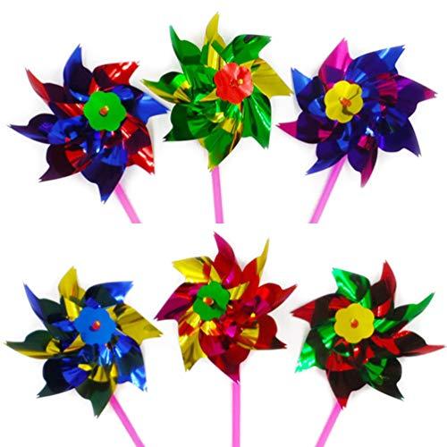 WINOMO 50pcs migliore festa del partito Arcobaleno Pinwheel, Outdoor decorazione bambini Garden Party Toy Festival