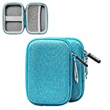 Earphone Carrying Case Mini Pouch Storage for Smartphone Earphone Bluetooth Headset Storage Bags, 2-Pack (Blue)