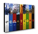 OneCanvas Game of Thrones Westeros House Sigil Wall Art Framed Canvas Print (24x36in. Large)