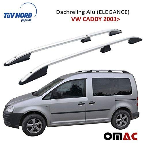 Dachreling Dachträger Aluminium Grau (Elegance) mit TUV/ABE