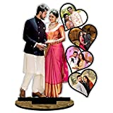Unique Stuff Personalized Gift MDF Cutout Photo Frame Standee Customized Gift with Your Photos (10 x 12 inch)