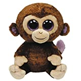 TY 7136800 - Coconut Boo - Affe braun, 42 cm, Beanie Boos, Glubschis