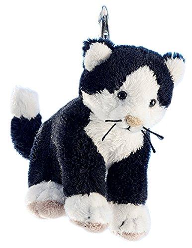 Schaffer Knuddel mich! 226 Anhänger Plüsch-Schlüsselanhänger Katze Caesar, schwarz, 10 cm