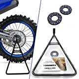 ToolWRX Motorcycle Dirt Bike Stand - Universal Triangle A Stand Design Best Quality Heavy Duty Metal Kickstand Dirtbike Reliable Motocross 125cc 250cc 450cc Accessories