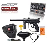 JT Outkast .68Cal Paintball Kit Includes Guardian Goggle, 90G Co2 Tank, 200Rd Loader, Black