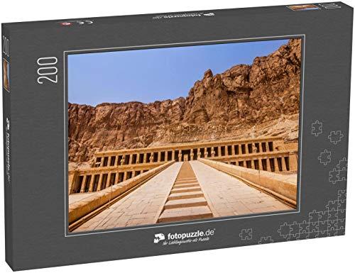 fotopuzzle.de Puzzle 200 Teile Exploring Egypt - MORTUARER Tempel DER Hatshepsut - Haupteingangstreppe zum Tempel der Pharao-Königin Hatschepsut (1000, 200 oder 2000 Teile)