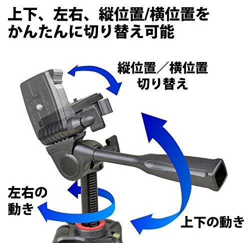 SLIK三脚GX64004段レバーロック21mmパイプ径3ウェイ雲台クイックシュー式216835