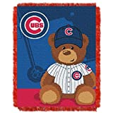 MLB Chicago Cubs Baby Woven Jacquard Throw Blanket, 36' x 46'