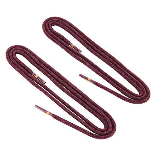 REMA 1 Paar Schnürsenkel - rund - dünn - Ø 2,5 mm in verschiedenen Farben und Längen (120 cm, Bordeaux)