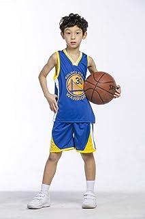 runvian Camiseta de Baloncesto para Niños, 23 Bulls Jordan / # 23 Lakers James / # 30 Warriors Curry de Bordado de Baloncesto con Curry Ropa de Entrenamiento para Niños y Niñas