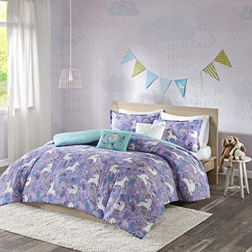 Urban Habitat Kids Duvet Set Vibrant Fun and Playful Unicorn Print All Season Comforter Cover...