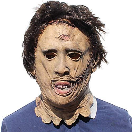 QAZX Película Texas Chainsaw Sombrero látex Tocado Masculino Realista de Halloween Funcionamiento apoya Un tamaño Adecuado for los Adultos decoración Puntales SEAno1