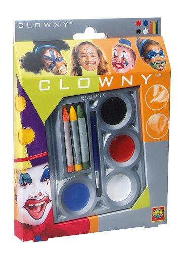 Ses - 09641 - Déguisements et Imitations - Maquillage - Boîte 4 + 3 couleurs Clown