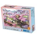 storefront Mini Rompecabezas De 1000 Piezas Sakura Villa Puzzle Juego De Descompresión para Adultos Regalo Creativo De Vacaciones
