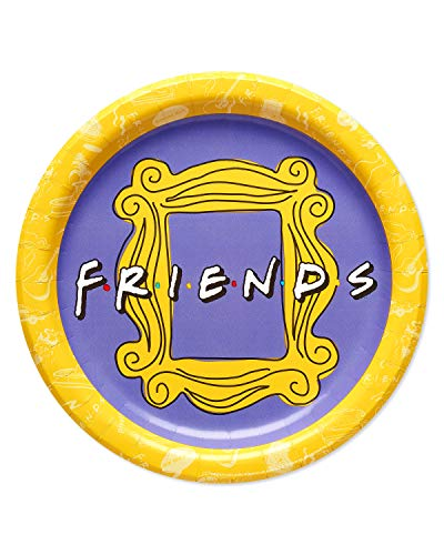 American Greetings 9 RND PLT 36 CT HC Friends Party Supplies, Dinner Plates, Count