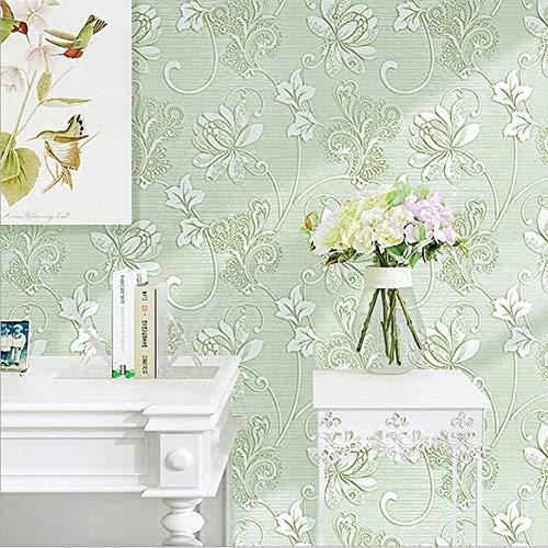 Europese grote bloem zelfklevend behang niet-geweven 3D driedimensionale reliëf terug met lijm woonkamer slaapkamer achtergrond muur papier*1 m C