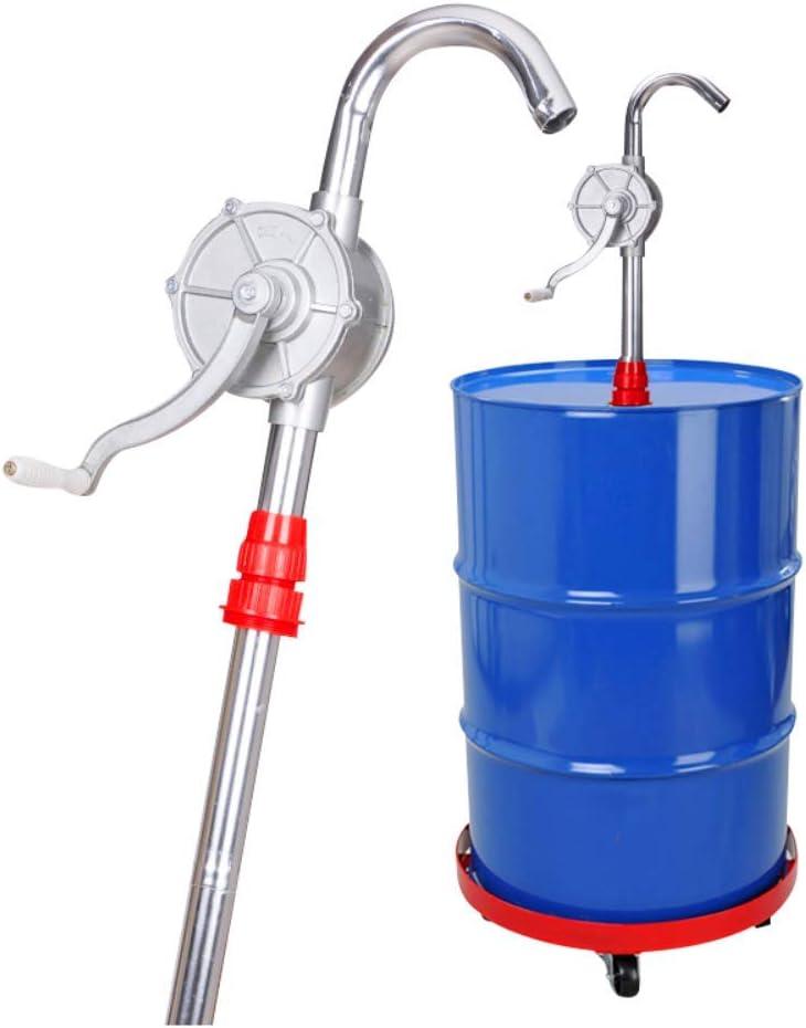 Samll Aluminium Alloy Hand Crank Pump Oil Transfer Suction Barrel Tool