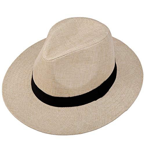 Rhc I Cappelli Estivi da Uomo Ma Daping Lungo i Berretti Antivento della Visiera da Uomo di Mezza età (Color : Beige)
