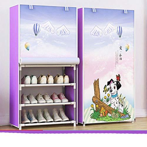 Simple zapatero a prueba de polvo gabinete de la asamblea espacio-Sr estante de pie dormitorio pasillo tela plegable armario de zapatos de almacenamiento-amarillo, China