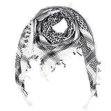 Superfreak Palituch - weiß - grau-dunkelgrau - 100x100 cm - Pali Palästinenser Arafat Tuch - 100% Baumwolle