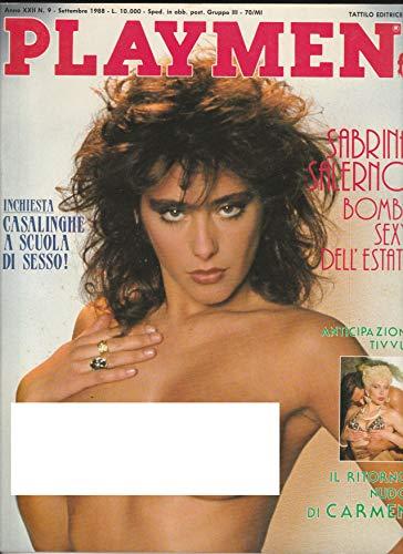 Playmen N° 9 del 1988 - Sabrina Salerno - Tattilo edtrice