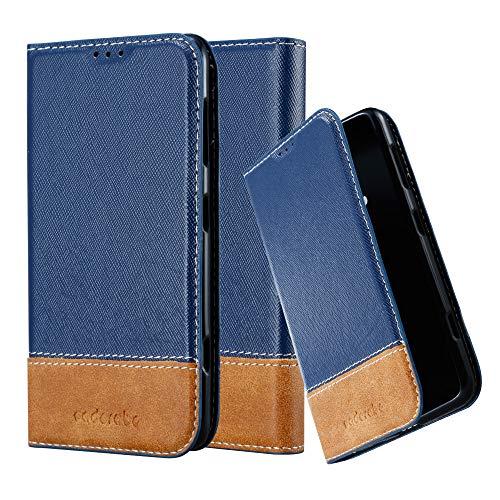 Cadorabo Custodia Libro per Nokia Lumia 625 in Blu Scuro Marrone - con Vani di Carte, Funzione Stand e Chiusura Magnetica - Portafoglio Cover Case Wallet Book Etui Protezione