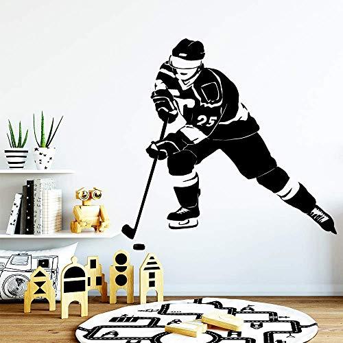 New Speed Hockey Wandaufkleber Home Decoration Wohnzimmer Schlafzimmer Aufkleber Haus Und Garten Wandbild Wandaufkleber L 43Cm X 43Cm