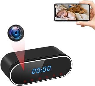 Cámara Espía Oculta WiFi UYIKOO Reloj Espia Inalámbrica, HD 1080P Mini Cámara de Seguridad 140° Ángulo Visión Nocturna Det...