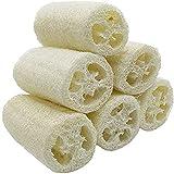 VOARGE 6 Stücke Premium Qualität Natürliche Luffa, Luffa-Schwamm Spa Peeling Scrubber Luffa Body Wash Schwamm entfernen abgestorbene Haut Küche Reinigungsmittel für Haushalt (ca. 4')