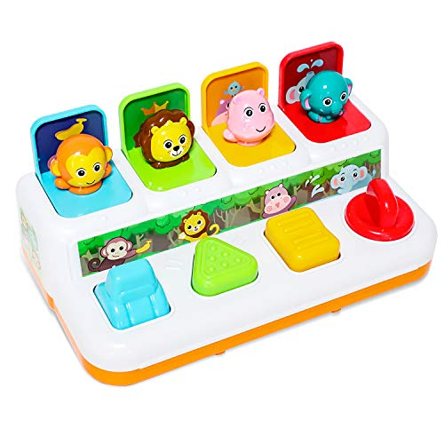 baccow Baby Toys 6 to 12-18 Months Musical Learning Pop-up Toys for 1 2 3 Year Old Boys Girls Gifts Kids Toddler Infant Sensory Toys