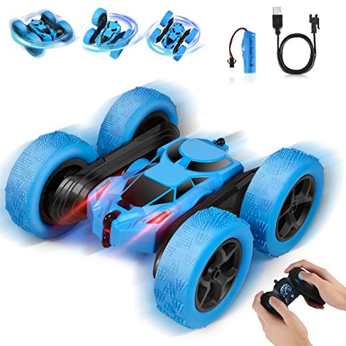 2020 Upgrade Remote Control Car, RC Cars Stunt Car Toy, 4WD 2.4Ghz Double Sided 360° Rotating RC Car with Headlights, Kids Xmas Toy Cars for Boys/Girls