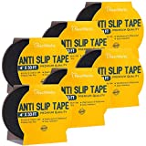 """Anti Slip Tape - Heavy Duty Grip Tape Roll and High Traction Non Slip Tape for Outdoor and Indoor Stairs and Steps. Easy to Apply Safety Non Skid Tape - 4"""" x 33' (Pack of 6)"""