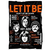 Music Band Let It Be Beatles Throw Blanket for Bed Couch Sofa Travelling Camping for Kids Adults All Season